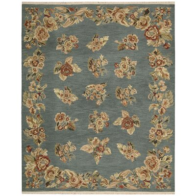Nourmak Encore Hand-Woven Blue Area Rug Rug Size: 86 x 116