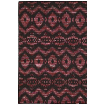 Pine Grove Hand-Woven Burgundy/Black Area Rug Rug Size: Rectangle 53 x 75