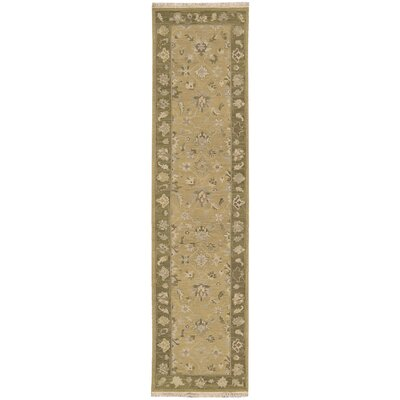 Nourmak Encore Hand-Woven Sand Area Rug Rug Size: Runner 2'6