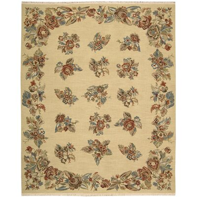 Nourmak Encore Hand-Woven Light Gold Area Rug Rug Size: 79 x 99
