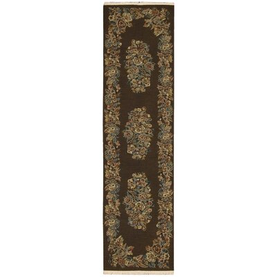 Nourmak Encore Chocolate Area Rug Rug Size: Runner 26 x 10