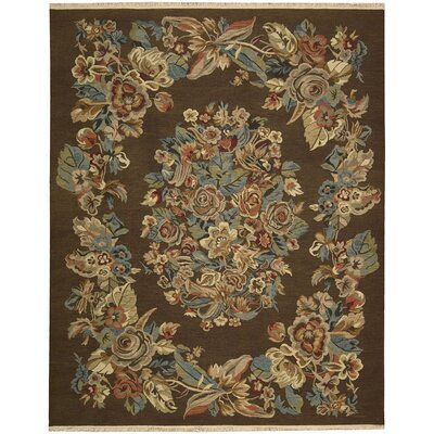 Nourmak Encore Chocolate Area Rug Rug Size: 39 x 59