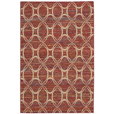 Pine Grove Hand-Woven Paprika Area Rug Rug Size: Rectangle 53 x 75