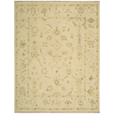 Nourmak Encore Hand-Woven Wheat Area Rug Rug Size: 56 x 75