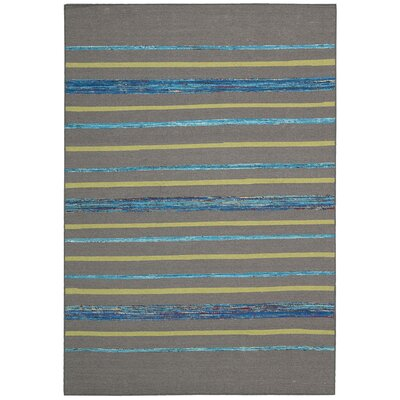 Pine Grove Gray Turquoise Rug Rug Size: Rectangle 53 x 75