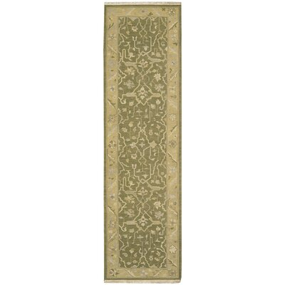 Nourmak Encore Hand-Woven Olive Area Rug Rug Size: Runner 26 x 10