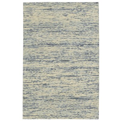 Sterling Hand-Tufted Cream/Blue Area Rug Rug Size: Runner 23 x 76