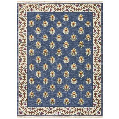 Nourmak Encore Hand-Woven Blue Area Rug Rug Size: 39 x 59