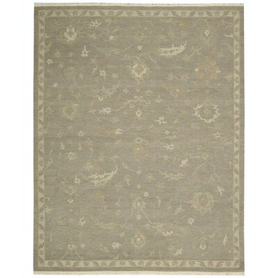 Nourmak Encore Hand-Woven Taupe Area Rug Rug Size: 86 x 116
