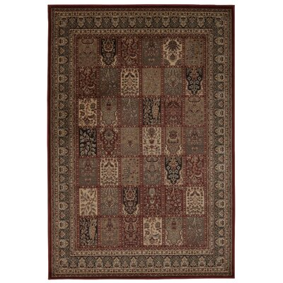 Fernada Burgundy Area Rug Rug Size: Rectangle 53 x 74