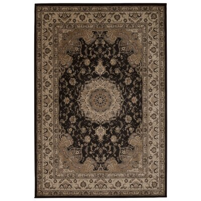 Abernathy Charcoal Area Rug Rug Size: Rectangle 53 x 74