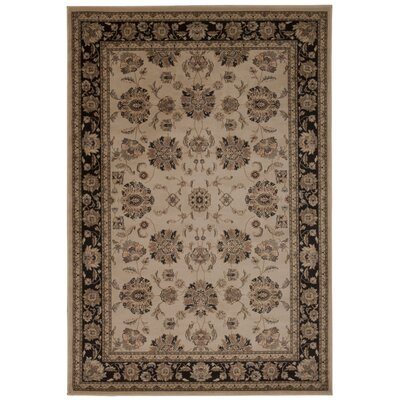 Swenson Ivory/Gray Area Rug Rug Size: Rectangle 53 x 74