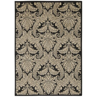 Tewkesbury Black/Beige Area Rug Rug Size: Rectangle 93 x 129