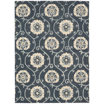 Donnellson Hand-Tufted Blue Area Rug Rug Size: Rectangle 5 x 76