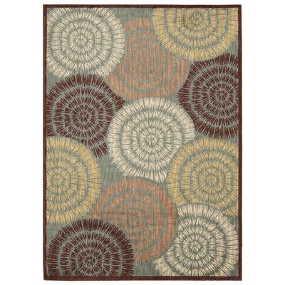 Aristo Brown Area Rug Rug Size: 3'9