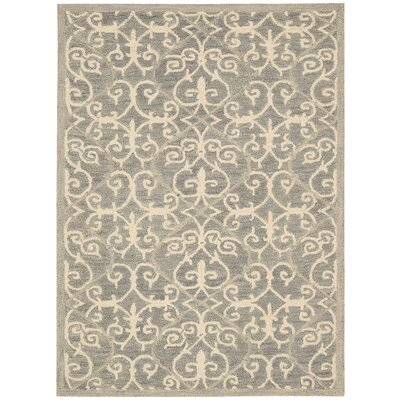 Tracie Hand-Tufted Silver Area Rug Rug Size: Rectangle 5 x 76