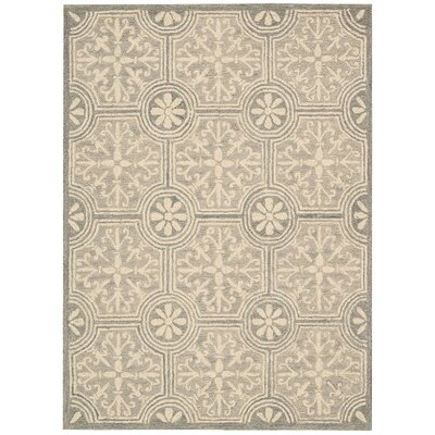 Tracie Hand-Tufted Gray Area Rug Rug Size: Rectangle 5 x 76
