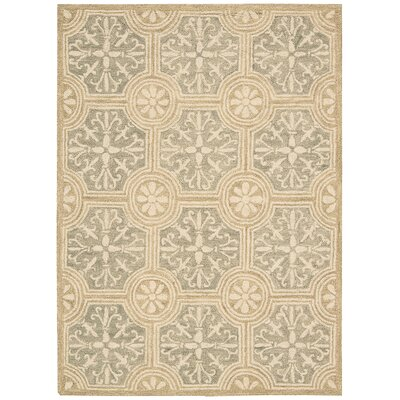 Tracie Hand-Tufted Stone Area Rug Rug Size: Rectangle 5 x 76