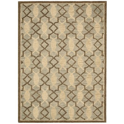Marina Hand-Tufted Light Green/Beige Area Rug Rug Size: 5 x 76