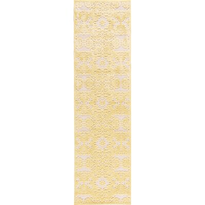 Riffe Gold/Yellow Geometric Area Rug Rug Size: Runner 23 x 8