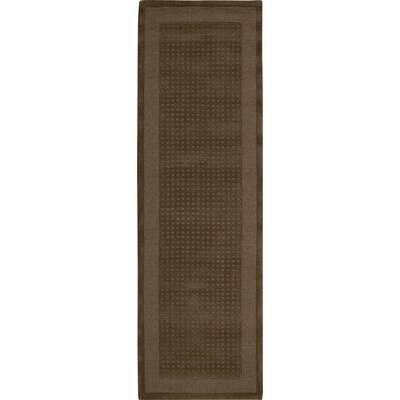 Aspasia Hand-Tufted Mocha Area Rug Rug Size: Runner 23 x 76