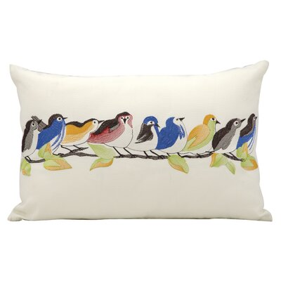 9 Birds on a Wire Outdoor Lumbar Pillow
