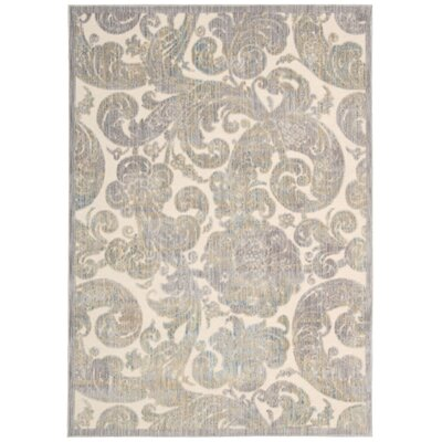 Ouellette Ivory Area Rug Rug Size: Rectangle 53 x 73