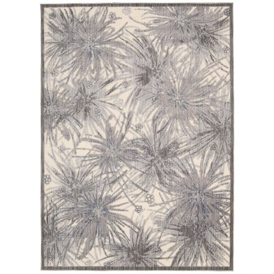 Kaeli Ivory/Gray Area Rug Rug Size: Rectangle 79 x 99