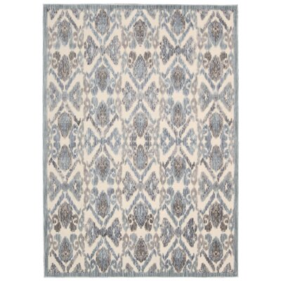 Ouellette Ivory/Seafoam Area Rug Rug Size: Rectangle 79 x 99