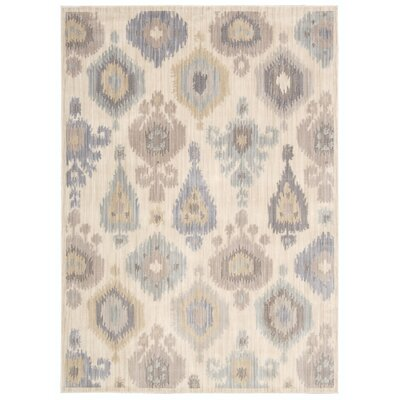Frantz Oriental Ivory Area Rug Rug Size: Rectangle 53 x 73