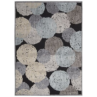 Kaeli Gray/Blue Area Rug Rug Size: Rectangle 53 x 73