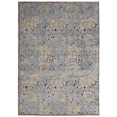Ouellette Tan/Blue Area Rug Rug Size: Rectangle 79 x 99