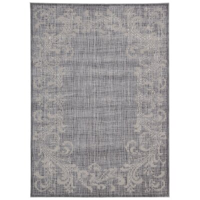 Ouellette Silver Area Rug Rug Size: Rectangle 53 x 73