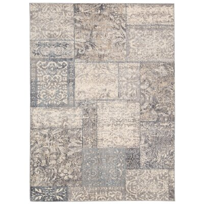Ouellette Beige/Blue Area Rug Rug Size: Rectangle 79 x 99