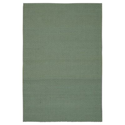 Hurst Hand-Woven Aqua Area Rug Rug Size: Rectangle 26 x 4