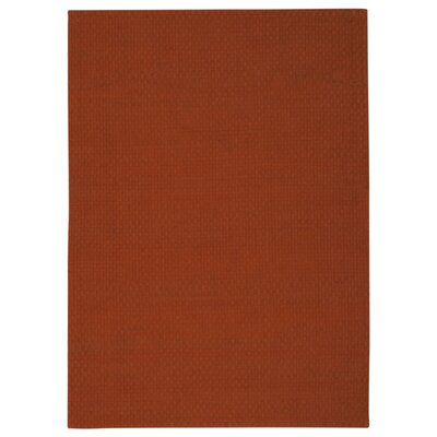 Sojourn Hand-Woven Orange Area Rug Rug Size: 76 x 96