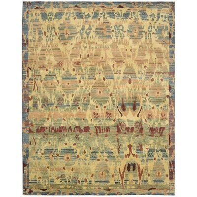 Mercado Hand-Knotted Gabbeh Area Rug Rug Size: 86 x 116
