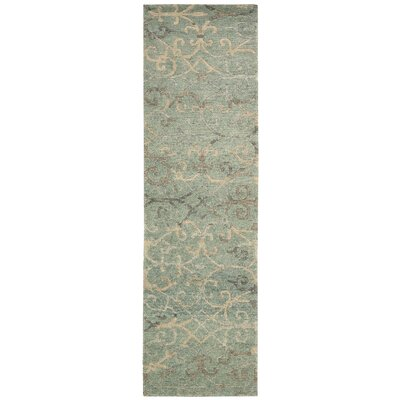 Tahoe Modern Hand-Knotted Seaglass Area Rug Rug Size: Runner 23 x 8