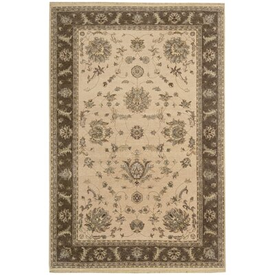 Degory Hand-Knotted Beige Area Rug Rug Size: Rectangle 79 x 99