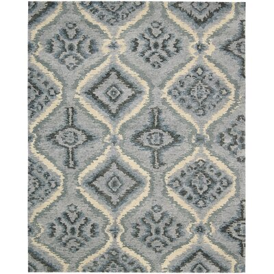 Tahoe Modern Hand-Knotted Denim Area Rug Rug Size: 79 x 99