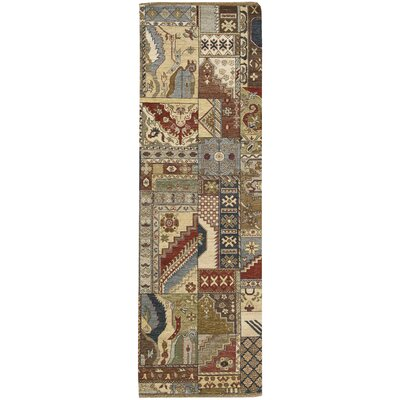 Degory Hand Knotted Multi Area Rug Rug Size: Runner 26 x 8