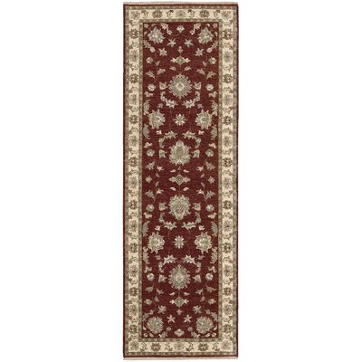 Degory Hand-Knotted Red Area Rug Rug Size: Runner 26 x 8