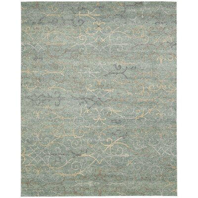 Tahoe Modern Hand-Knotted Seaglass Area Rug Rug Size: 99 x 139