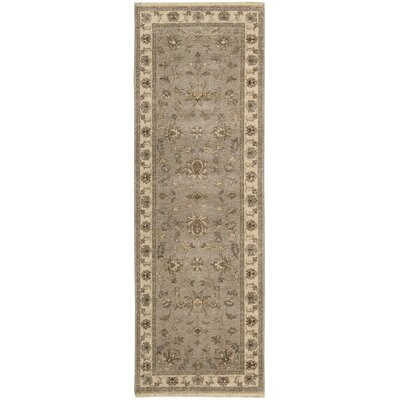 Degory Hand-Knotted Gray Area Rug Rug Size: Runner 26 x 8
