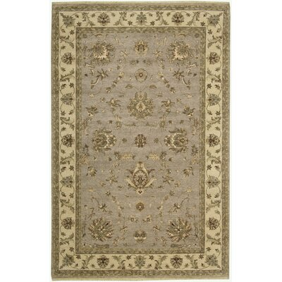 Degory Hand-Knotted Gray Area Rug Rug Size: Rectangle 56 x 86