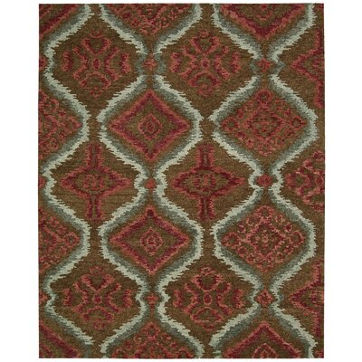 Tahoe Modern Hand-Knotted Brown/Red Area Rug Rug Size: 39 x 59