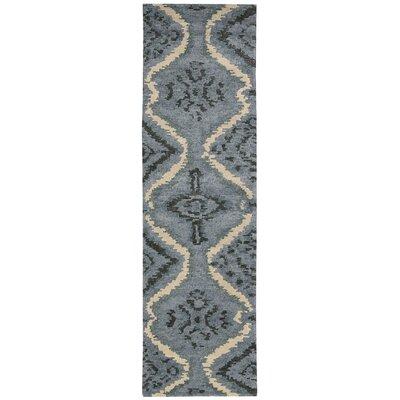 Tahoe Modern Hand-Knotted Denim Area Rug Rug Size: Runner 23 x 8