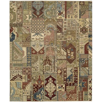 Degory Hand Knotted Multi Area Rug Rug Size: Rectangle 9'9