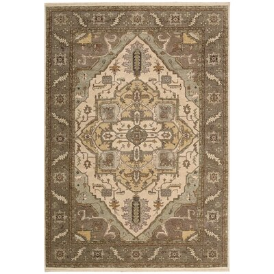 Degory Beige Area Rug Rug Size: Rectangle 56 x 86