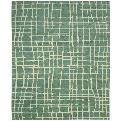 Tahoe Modern Turquoise/Green Rug Rug Size: 39 x 59